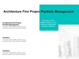 Architecture Firm Project Portfolio Management Ppt Powerpoint Presentation Pictures Inspiration Cpb