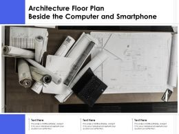 Architecture Floor Plan Beside The Computer And Smartphone