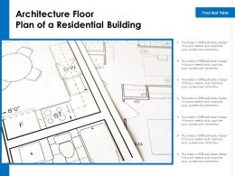 Architecture Floor Plan Of A Residential Building
