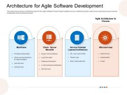 Architecture For Agile Software Development Choose Ppt Structure