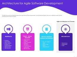 Architecture For Agile Software Development Layered Ppt Powerpoint Presentation Clipart
