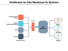 Architecture For Data Warehouse For Business