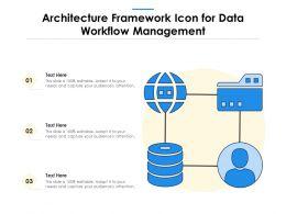 Architecture Framework Icon For Data Workflow Management