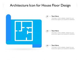 Architecture Icon For House Floor Design