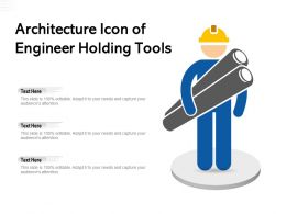 Architecture Icon Of Engineer Holding Tools