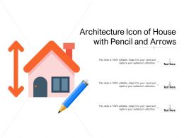 Architecture Icon Of House With Pencil And Arrows