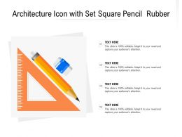 Architecture Icon With Set Square Pencil Rubber
