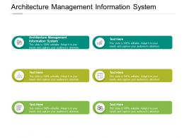 Architecture Management Information System Ppt Powerpoint Presentation Files Cpb