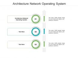 Architecture Network Operating System Ppt Powerpoint Presentation Slides Design Ideas Cpb