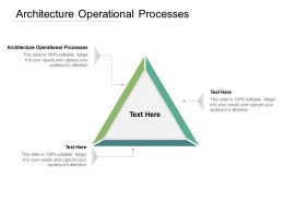 Architecture Operational Processes Ppt Powerpoint Presentation Slides Files Cpb
