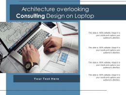 Architecture Overlooking Consulting Design On Laptop