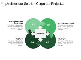 Architecture Solution Corporate Project Increments Capability Increment Solutions