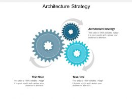 Architecture Strategy Ppt Powerpoint Presentation Gallery Diagrams Cpb