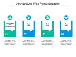 Architecture Web Personalization Ppt Powerpoint Presentation Pictures Files Cpb