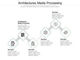 Architectures For Media Processing Ppt Powerpoint Presentation Summary Examples Cpb