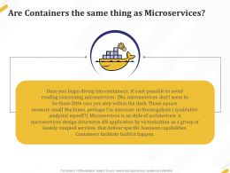 Are Containers The Same Thing As Microservices Build Ppt Powerpoint Presentation Icon