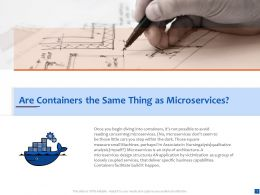 Are Containers The Same Thing As Microservices Business Capabilities Ppt Files