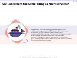 Are Containers The Same Thing As Microservices Ppt Infographic Template