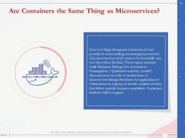 Are Containers The Same Thing As Microservices Qualitative Analysis Ppt Pictures