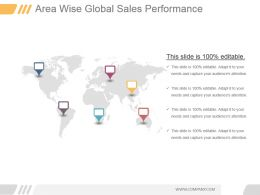 Area Wise Global Sales Performance Ppt Presentation