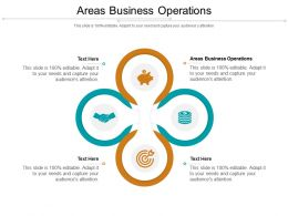 Areas Business Operations Ppt Powerpoint Presentation Icon Outline Cpb