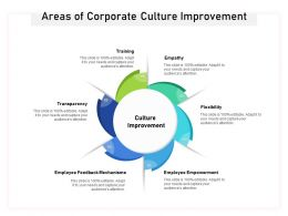 Areas Of Corporate Culture Improvement