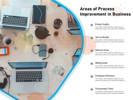 Areas Of Process Improvement In Business