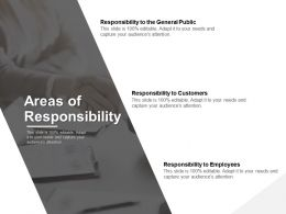 Areas Of Responsibility Customers Employees Ppt Powerpoint Presentation File Information
