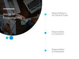 Areas Of Responsibility Ppt Powerpoint Presentation Layout