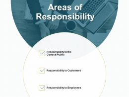 Areas Of Responsibility To The General Public Ppt Powerpoint Presentation Diagram Graph Charts