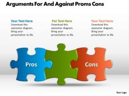 Arguments For And Against Proms Cons Ppt Powerpoint Slides