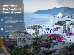 Ariel View Oia Santorini Town Greece