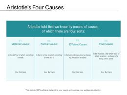 Aristotles Four Causes