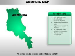 Armenia Country Powerpoint Maps
