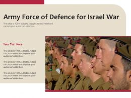 Army Force Of Defence For Israel War