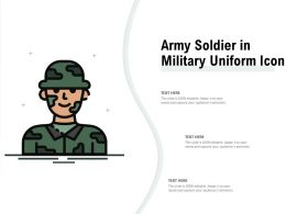 Army Soldier In Military Uniform Icon