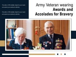 Army Veteran Wearing Awards And Accolades For Bravery