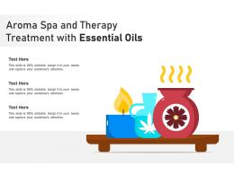 Aroma Spa And Therapy Treatment With Essential Oils