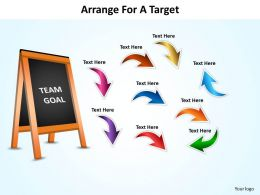 arrange for a target with blackboard and arrows powerpoint diagram templates graphics 712