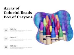 Array Of Colorful Beads Box Of Crayons