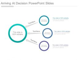 Arriving At Decision Powerpoint Slides