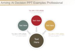 Arriving At Decision Ppt Examples Professional
