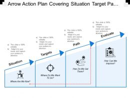 Arrow Action Plan Covering Situation Target Path And Evaluate