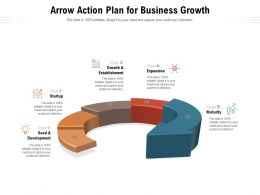 Arrow Action Plan For Business Growth