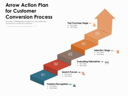 Arrow Action Plan For Customer Conversion Process