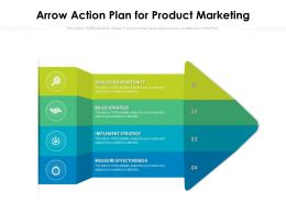 Arrow Action Plan For Product Marketing