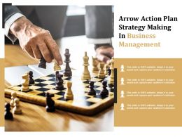 Arrow Action Plan Strategy Making In Business Management