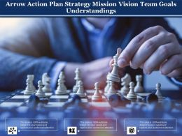 Arrow Action Plan Strategy Mission Vision Team Goals Understandings
