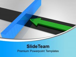 Arrow And Breaking Wall Target Aim PowerPoint Templates PPT Themes And Graphics 0113