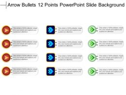 Arrow Bullets 12 Points Powerpoint Slide Background